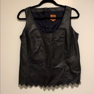 Tory Burch leather top - sz 6